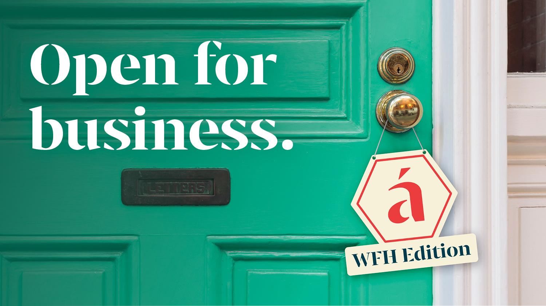 algo mas branding is open for business