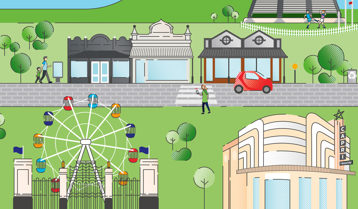Digital Unley Illustration of City by Algo Mas