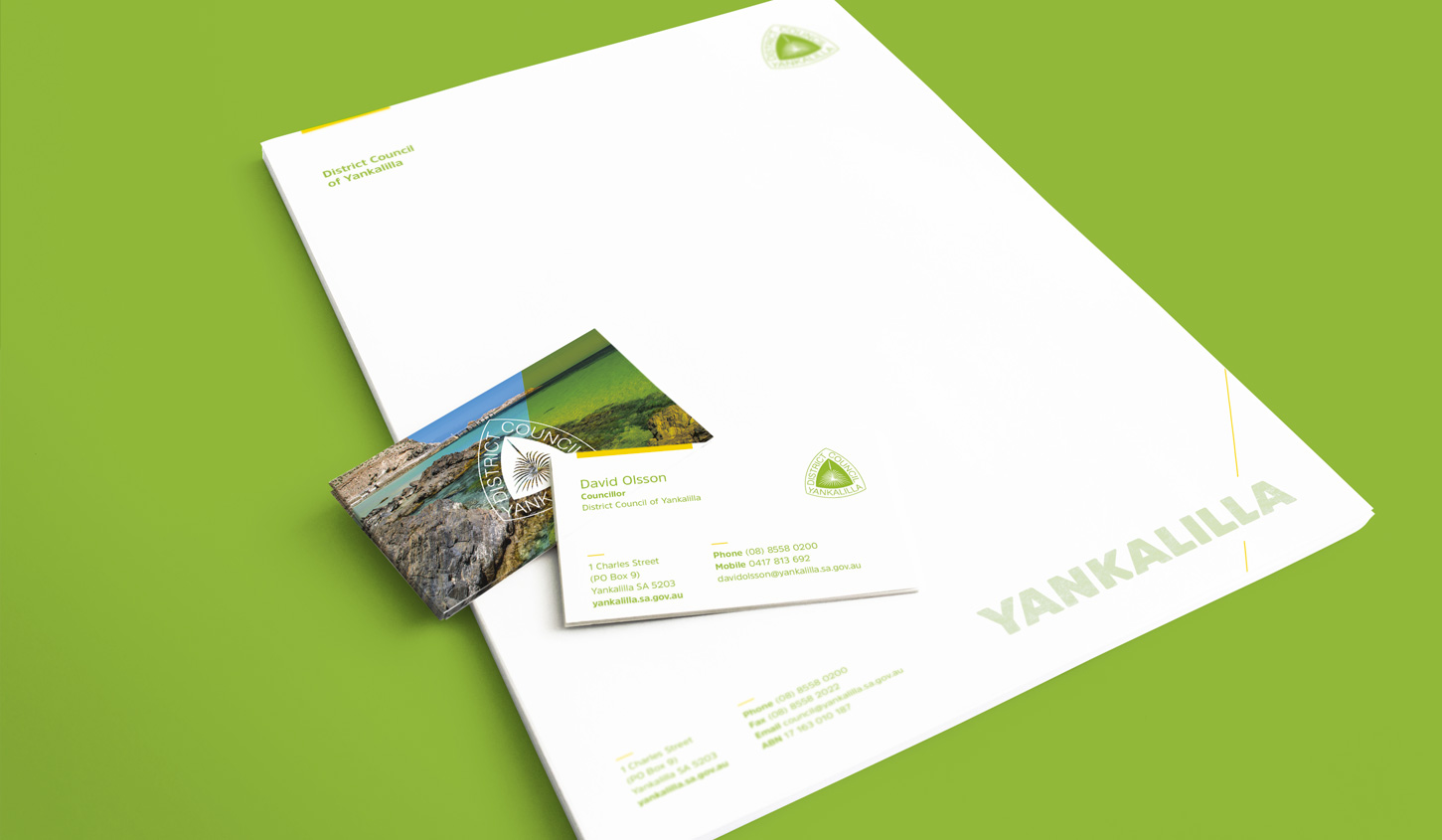 Yankalilla Letterhead Business Cards, designed by Algo Mas
