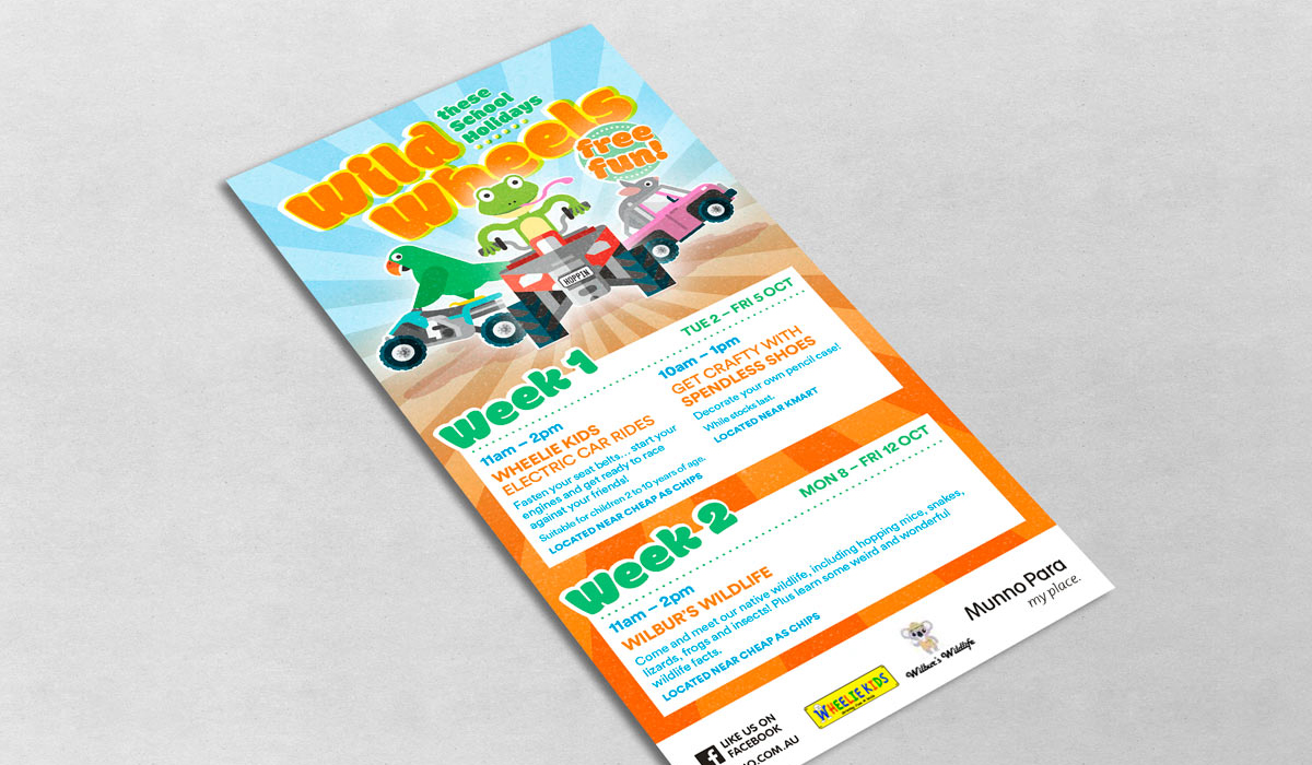 munno wild wheels flyer created by algo mas