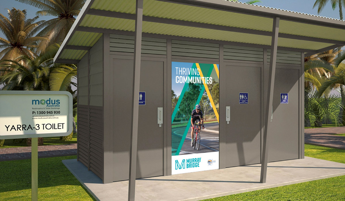 Murray Bridge Poster Design displayed at public park