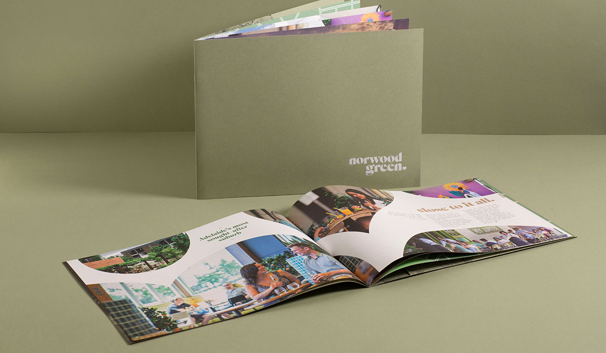 Norwood Green brochure designed by Algo Mas
