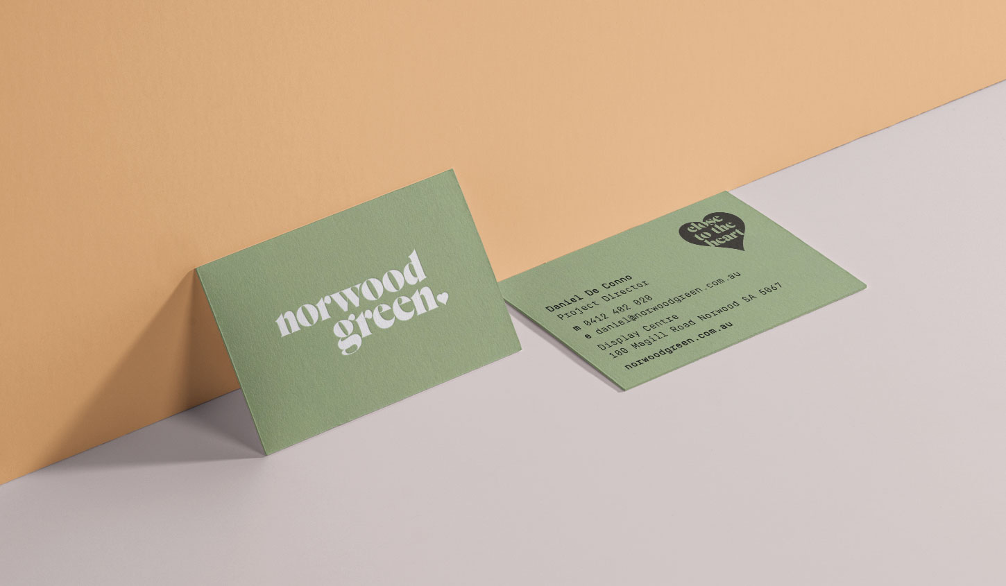 Norwood Green Business cards designed by Algo Mas