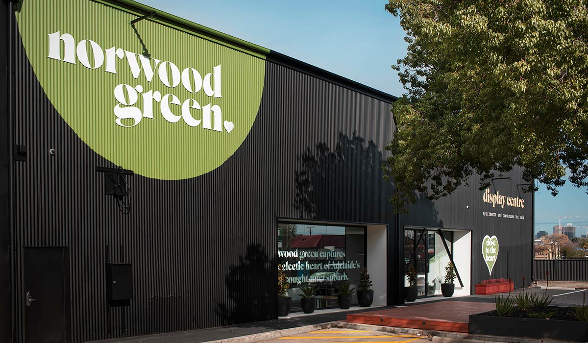 Norwood Green Display Centre signage designed by Algo Mas