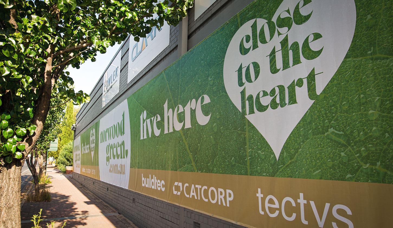 Norwood Green signage designed by Algo Mas