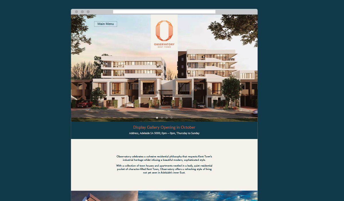 Observatory-Kent-Town-Website-Design