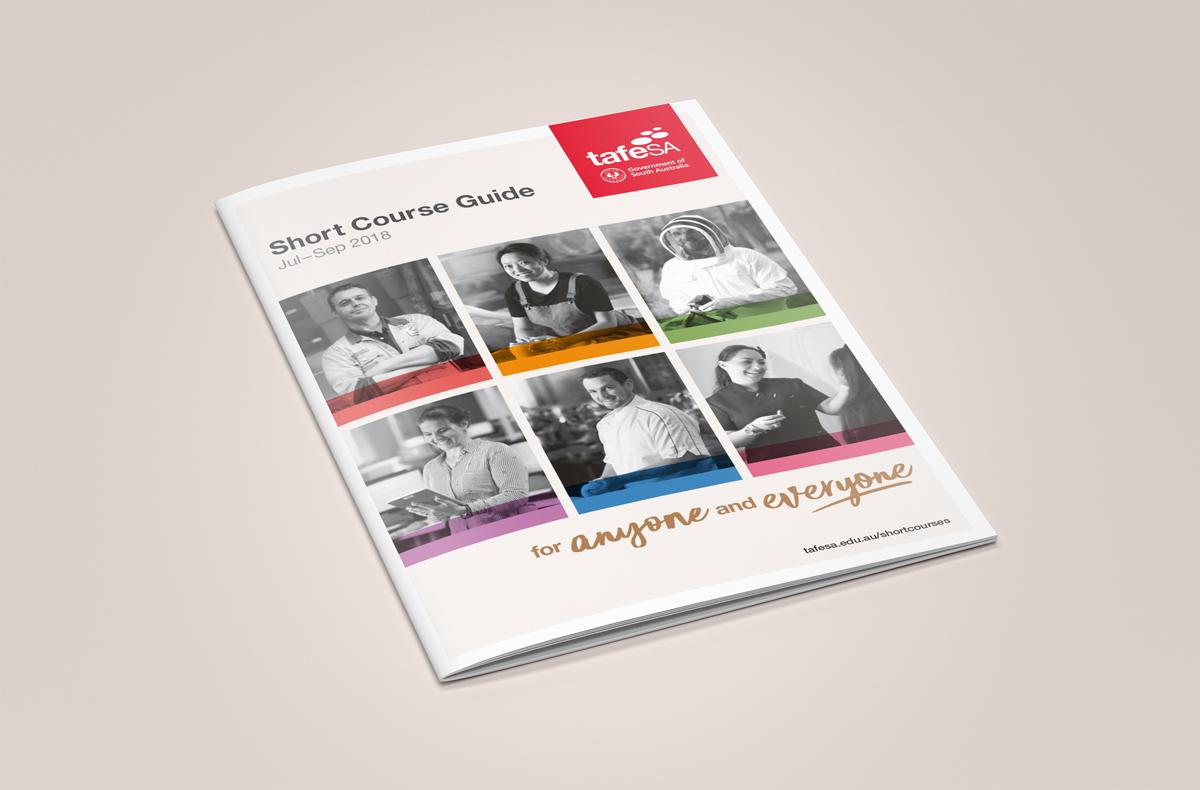 TAFE SA Brochure Cover, designed by Algo Mas