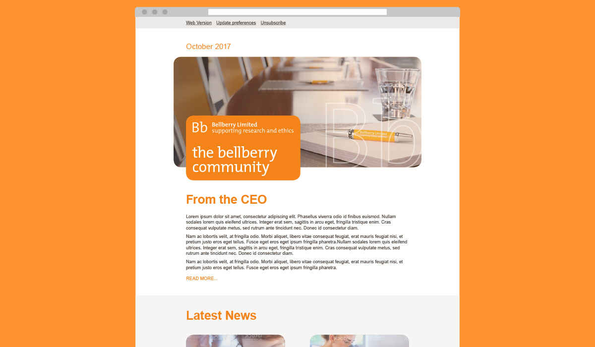 Bellberry website design by Algo Mas, community page