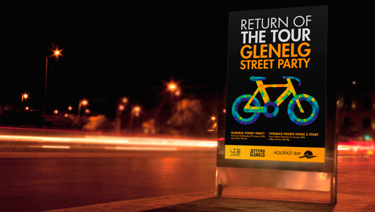 Glenelg street party branding by Algo Mas
