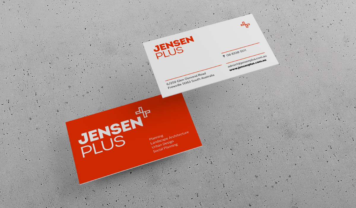 jensen-plus-branding-business-card