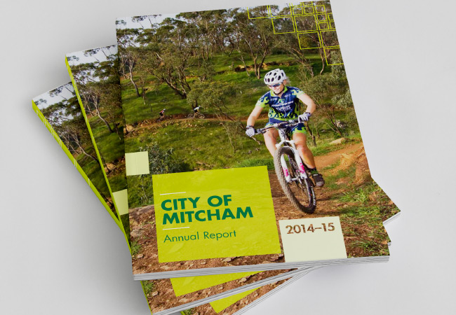 Mitcham Annual Report Cover Graphic Design by Algo Mas