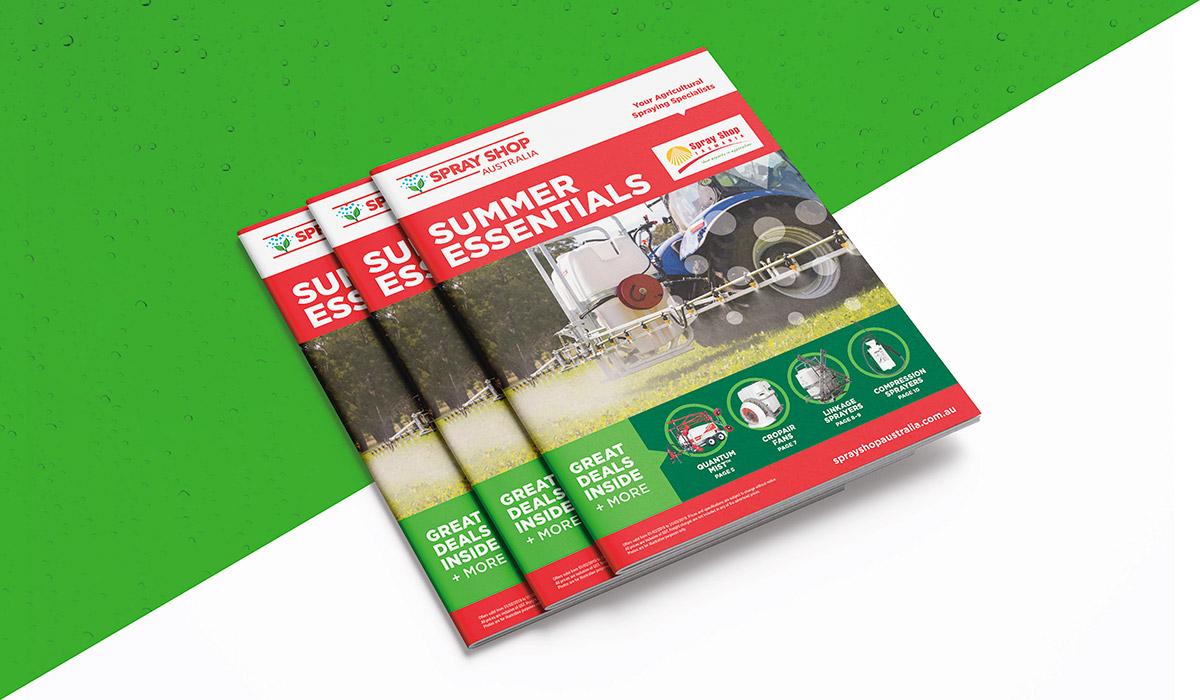 Sprayshop summer essentials magazine created by Algo Mas